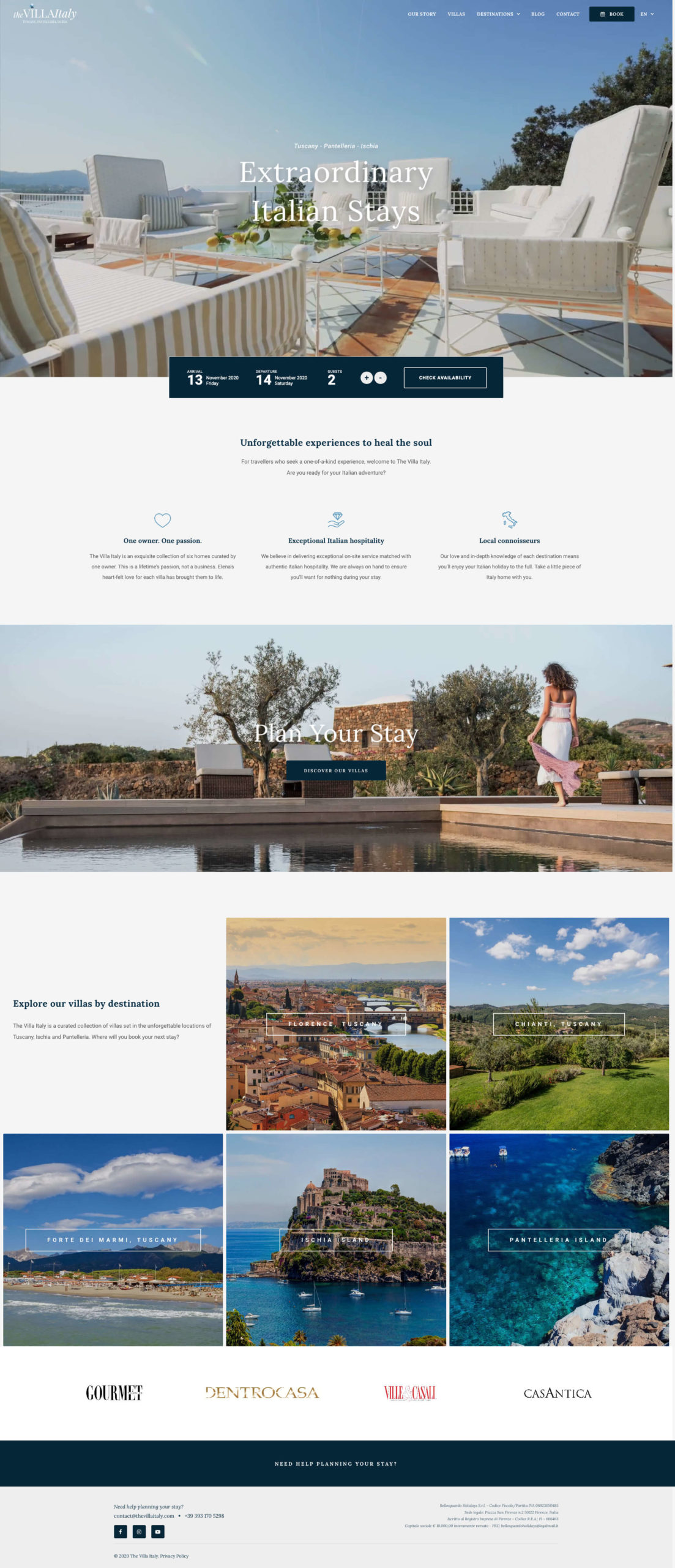 The Villa Italy Website